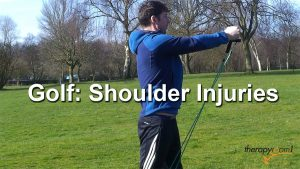 therapyrooom1 - golfer doing a shoulder rehab exercise